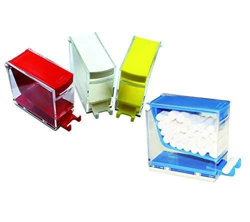 SDent USA FDA & TUV CE 1PC Press Type Dental Cotton Roll Dispenser Holder Organizer Color Randomly