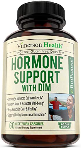 DIM Supplement with Chlorella & Tart Cherry - Support Healthy Estrogen Levels, Assist Menopause Transition, Clear Skin, Ease PMS & Boost Athletic Performance. DIM 250mg with BioPerine. 2 Month Supply.