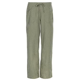 33137daecd1420 Causeway Bay Linen Pants Womens Summer Holiday Lightweight Pocket Trousers  Plus Sizes Cheap UK 12- UK 18: Amazon.co.uk: Clothing