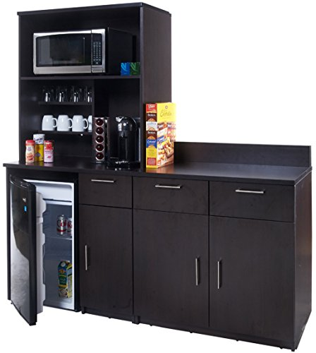 Coffee Kitchen Lunch Break Room Cabinets Model 4256 BREAKTIME 3 piece group Color Espresso - Factory Assembled (NOT RTA) Furniture Items ONLY. by Breaktime (Image #2)