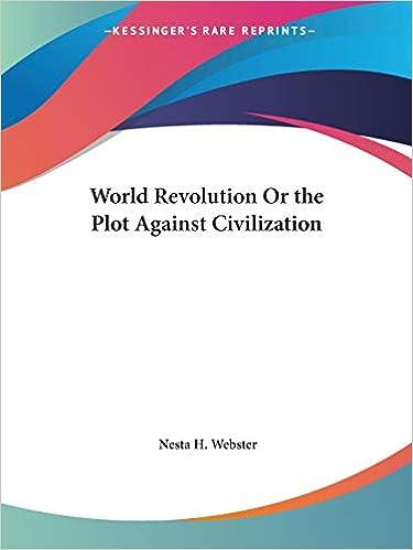 Book — WORLD REVOLUTION OR THE PLOT AGAINST CIVILIZATION
