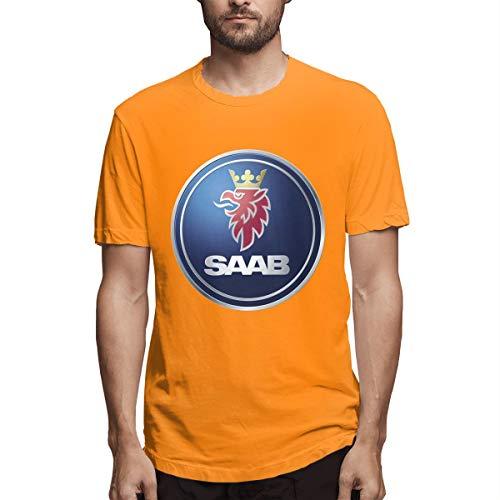 BAIXRU Fashion General Motors Saab Logo T Shirts for Male Orange 31