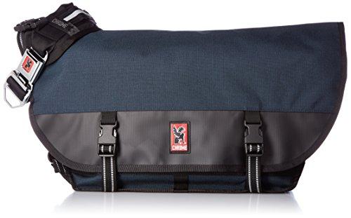 - Chrome BG-002-INBK Indigo/Black One Size Citizen Messenger Bag Chrome Buckle