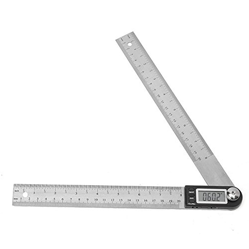 Generic 200MM Stainless Steel Electronic Ruler Scale Angle Calipers Digital Display Ruler