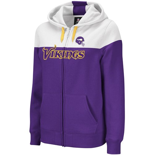 brand new 4bc8e f69d5 Reebok Minnesota Vikings Women's Football Full Zip Hooded Sweatshirt