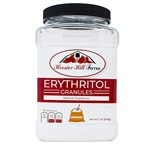 Erythritol Granules (2lbs) by Hoosier Hill Farm, Made in the USA. Gluten-Free, Natural Sweetener ()
