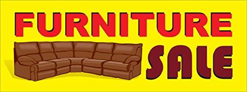 (Furniture Sale Premium Advertising Vinyl Banner for Outdoor/Indoor Use, 3' x 8')