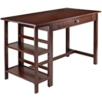 Winsome Wood Velda Writing Desk with 2 Shelves