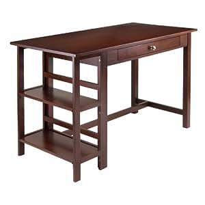 Winsome Wood Velda Writing Desk with 2 Shelves