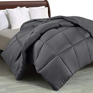 Utopia Bedding Comforter Duvet Insert - Quilted Comforter with Corner Tabs - Box Stitched Down Alternative Comforter (King, Grey)