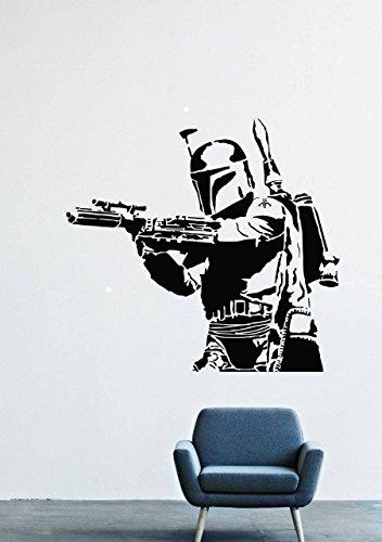 Wall Decals Mural Vinyl Star Wars Stormtrooper Blaster Helmet GMO0468