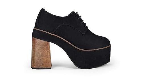 65bcbe3dd22 Bosanova Zapato Estilo Blucher con Plataforma XXL para Mujer  Amazon.es   Zapatos y complementos