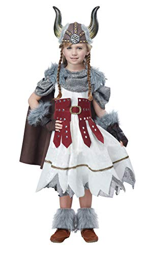 California Costumes Valorous Viking Girl Costume, Multi,