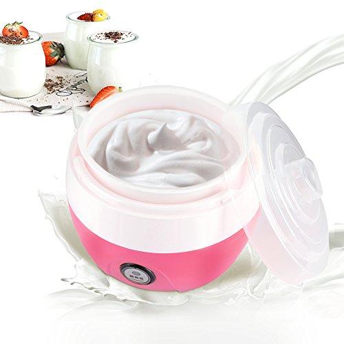 Yaourtière, Yogourt Automatique Maker Crème Yaourt Électrique Machine de Yogourt Bricolage Outil, 1L (Rose)