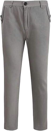 Suncolor8 メンズ立体フラットフロントカジュアルスリムストレート脚ドレスパンツ