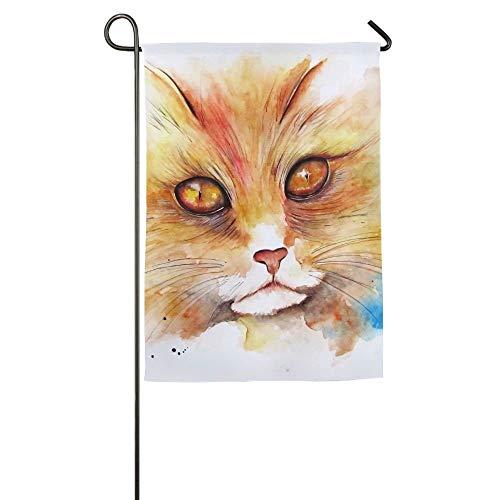 NOAID Cat Splash Home Garden Flags Summer Decorative Garden Flags -
