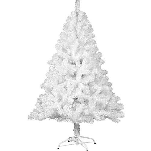 VINGO® Künstlicher Weihnachtsbaum für Innen und outdoor Weiß Einzigartiger Weihnachtsbäume ,220 cm ca. 1000