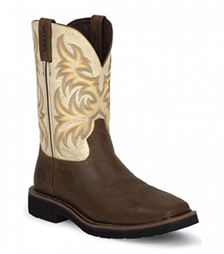 Boots Men's Stampede Work Boot,Copper Kettle Cowhide,10 D US ()