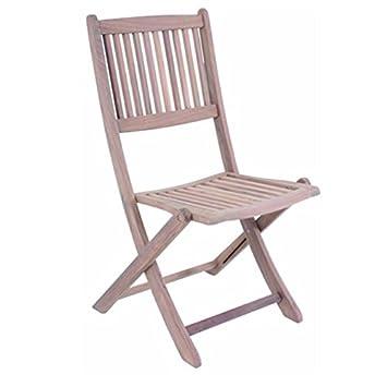 Sillas de Jardín Teca DANANG silla plegable madera de teca ...