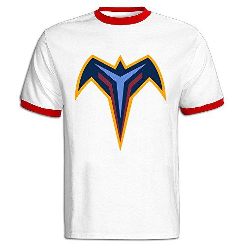 JSSAD Man's Cotton Atlanta Ice Hockey Logo Thrashers Sport T Shirt Red L