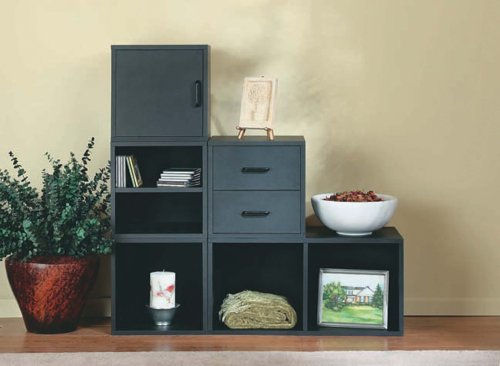 Foremost 327606 modular open cube storage system black for Foremost homes price list