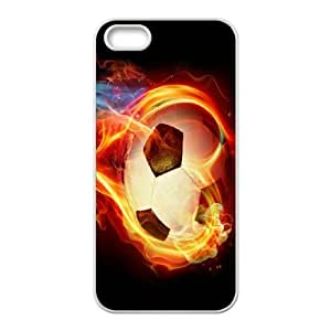 K-G-X Phone case For Apple Iphone 5 5S Cases Case-Pattern-20 Love Football Protective Back Case