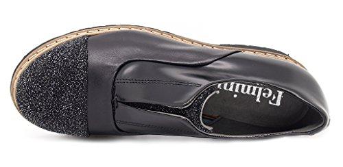 Felmini - Zapatos de cordones de Piel para mujer