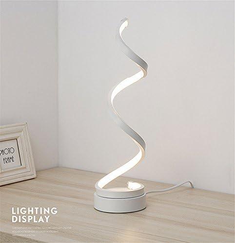 ELINKUME Table Lamp LED Bedside Lamp, Modern Fashion Design, 12W Cool White Lighting, Acrylic Lampshade Perfect for Bedside Decor (White)