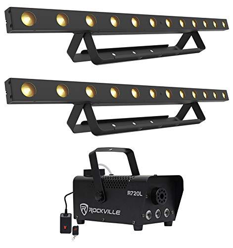 (2) Chauvet COLORband Q3BT DMX Wireless Bluetooth Wash Light Strips+LED Fogger (57w Single Light)