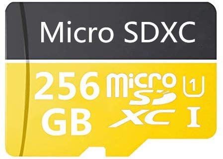 High Speed 256GB Micro SD Card Designed for Android Smartphones, Tablets Class 10 SDXC Memory Card with Adapter (256GB-A)