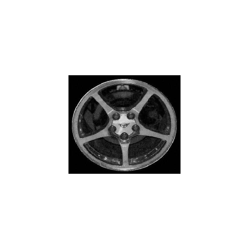 00 03 CHEVY CHEVROLET CORVETTE ALLOY WHEEL RIM 18 INCH, Diameter 18, Width 9.5 (5 SPOKE, CHROME, REAR), BRIGHT POLISH, 1 Piece Only, Remanufactured (2000 00 2001 01 2002 02 2003 03) ALY05104U80