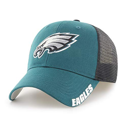 (NFL Philadelphia Eagles Hursh OTS Center Stretch Fit Hat, Pacific Green, Large/X-Large)