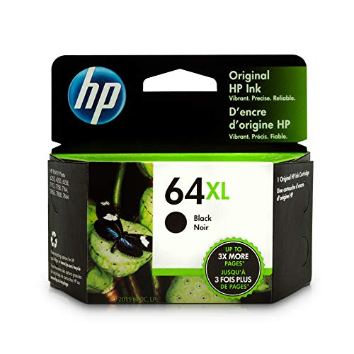 HP 64XL Black Ink Cartridge (N9J92AN) for HP ENVY Photo 6252 6255 6258 7155 7158 7164 7855 7858 7864 HP ENVY 5542 ()