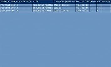 le kit dassemblage complet pour 206 1.1 1.4 BERLINE 3//5 PORTES 60//75hp 2000-2003 ETS-EXHAUST 51451 Tuyau interm/édiaire