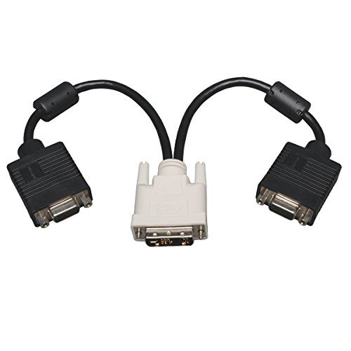 (Tripp Lite P120-001-2 Adapter/Splitter Cable - DVI-A M to (x2) HD15 F)
