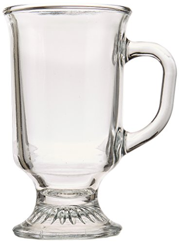 Anchor Hocking Irish Coffee Glass Coffee Mugs, 8 oz (Set of 12)
