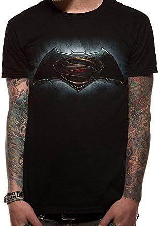 Batman v Superman Logo Camiseta Negro L: Amazon.es: Ropa y accesorios