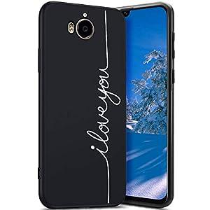Robinsoni Cover Compatible con Huawei Y6 2017 Case TPU Flessibile Nera Custodia in Gomma Antiurto Caso Modello Semplice… 5 spesavip