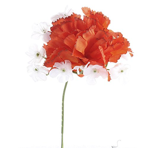 4 Imitation Silk Red Freesia Floral Bushes for Crafting, Decorating and Embellishing (Bouquet Wedding Freesia)