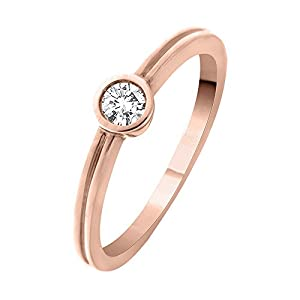 promise ring in 14k pink gold 1 5