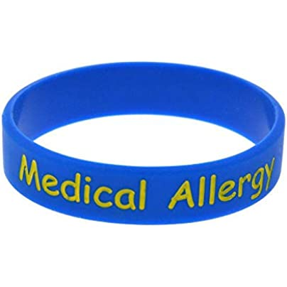 MAlex Silicone Wristbands with Sayings Medical Allergy Rubber Wristbands for Kids Set Pieces Estimated Price £27.99 -