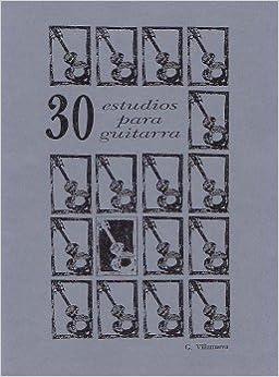 30 Estudis per a guitarra: Amazon.es: Glòria Villanueva i Sánchez ...