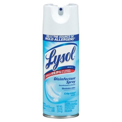 Lysol Spray Disinfectant Linen Scent Aerosol 12 Oz, 24 Pack