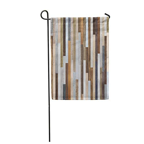 (Semtomn Garden Flag 28x40 Inches Print On Two Side Polyester Pallet Wood Colorful Planks Rustic Abstract Aged Home Yard Farm Fade Resistant Outdoor House Decor Flag)