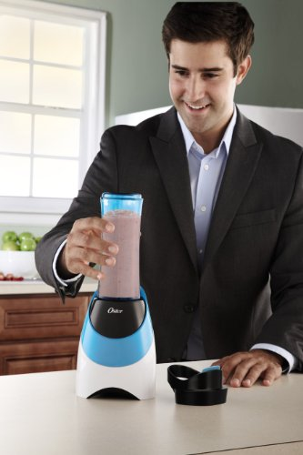 Oster BLSTPB-WBL My Blend 250-Watt Blender with Travel Sport Bottle, Light Powder Blue