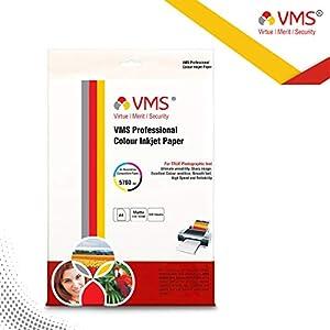 VMS Professional Colour Inkjet Paper Matte Inkjet Photo Paper A4 (210 x 297 mm) 130 GSM set of 2 (200 Sheets)