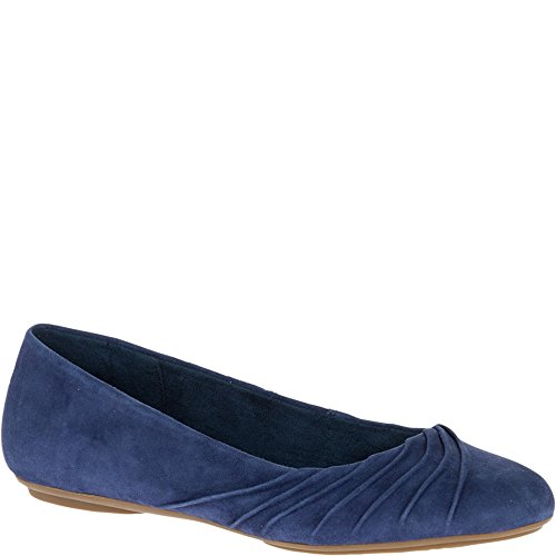 Hush Puppies Womens Zella Chaste Balletto Flat Navy Suede