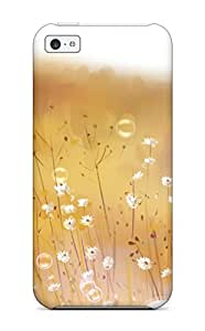 XiFu*MeiSlim Fit Tpu Protector Shock Absorbent Bumper Anime Flowers Bubbles Mood Original Case For iphone 4/4sXiFu*Mei