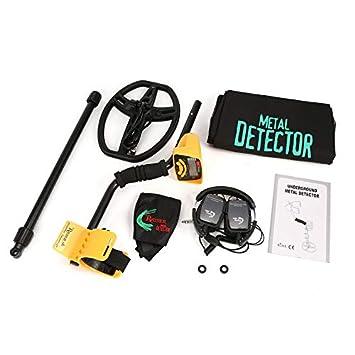 Nowakk Detector de Metales subterráneo Profesional MD6350 Buscador de buscadores de Oro Treasure Hunter de Mano con Pantalla LCD para Auriculares: ...