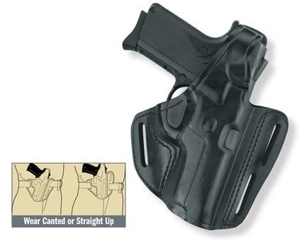 Gould & Goodrich B803-G17 Gold Line Three Slot Pancake Holster (Black) Fits GLOCK 17, 22, 31